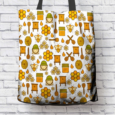 FUN BEE LOVERS CANVAS TOTE