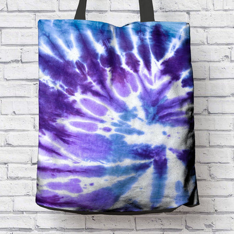 CLASSIC BLUE TIE DYE CANVAS TOTE