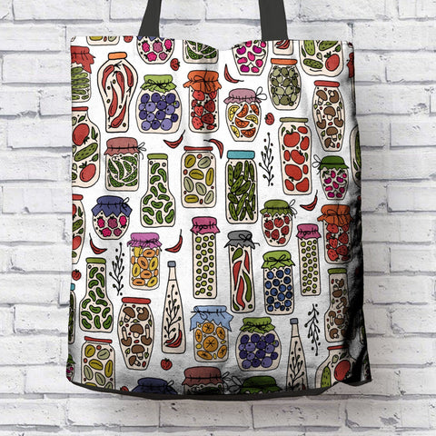 FUN CANNING ENTHUSIASTS CANVAS TOTE