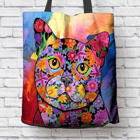 FABULOUS BLACK CAT CANVAS TOTE