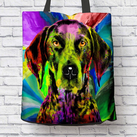 GORGEOUS POP ART GERMAN SHORTHAIRED POINTER CANVAS TOTE