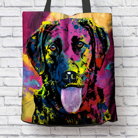 GORGEOUS POP ART LABRADOR CANVAS TOTE