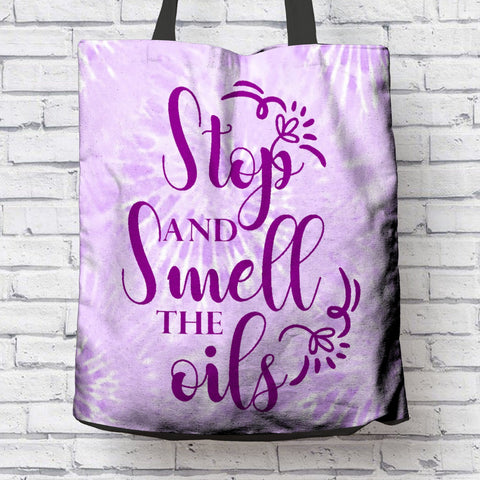 FUN SMELL THE OILS CANVAS TOTE