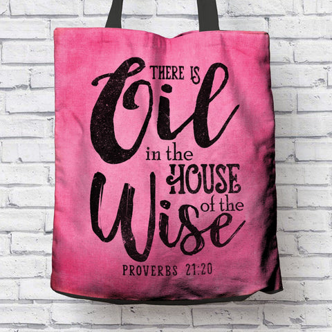 AWESOME PROVERBS CANVAS TOTE
