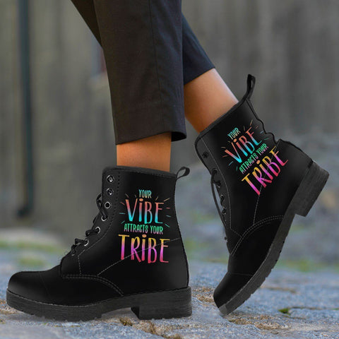 "AWESOME ""YOUR VIBE"" BOOTS - CRUELTY FREE FAUX LEATHER"