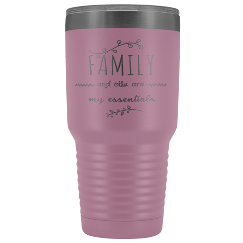 FAMILY & OILS STAINLESS STEEL VACUUM TUMBLER - COMES IN 7 COLORS - HUGE 30 OZ. SIZE