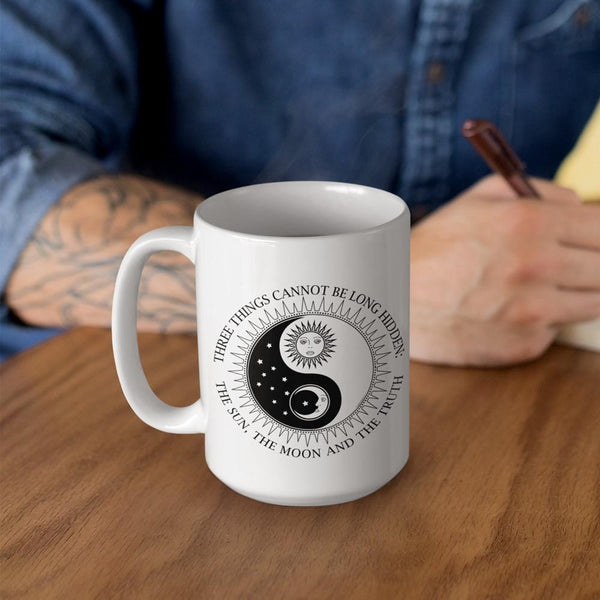 SUN MOON TRUTH White Mug - BIG 15 oz. size