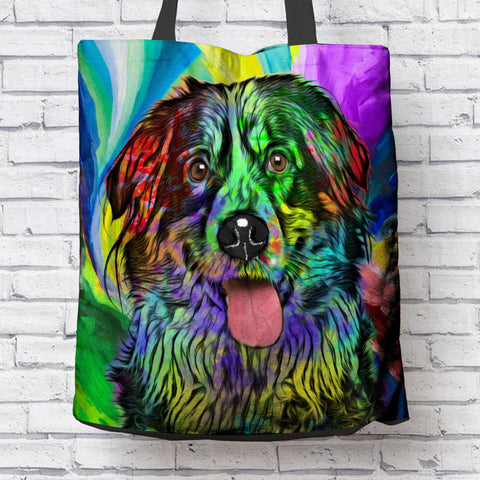 GORGEOUS POP ART BERNESE MOUNTAIN DOG CANVAS TOTE - NEW BIGGER SIZE