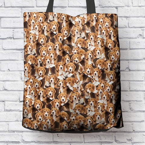 FUN BEAGLES CANVAS TOTE