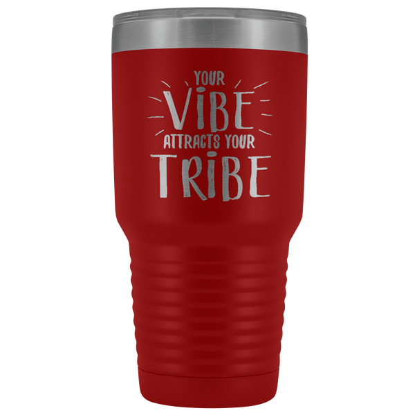 VIBE STAINLESS STEEL VACUUM TUMBLER - COMES IN 7 COLORS - HUGE 30 OZ SIZE
