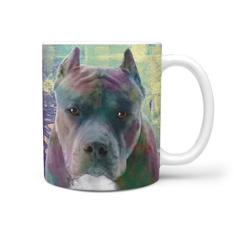 AMAZING CROPPED EARS PIT BULL MUG - 360 WRAPPED PRINT