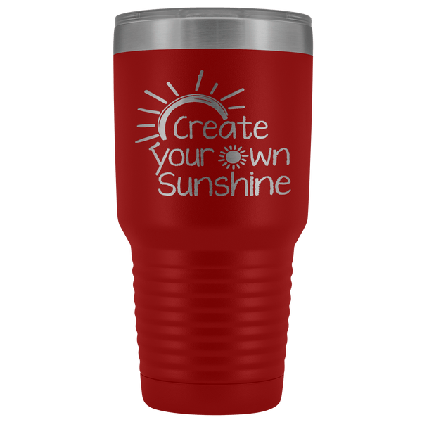 SUNSHINE TUMBLER STAINLESS STEEL VACUUM TUMBLER - COMES IN 12 COLORS - HUGE 30 OZ. SIZE