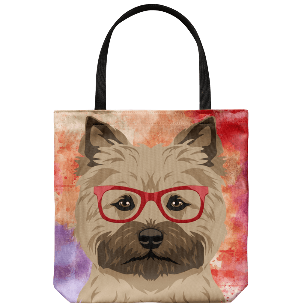 HIPSTER TAN YORKIE CANVAS TOTE