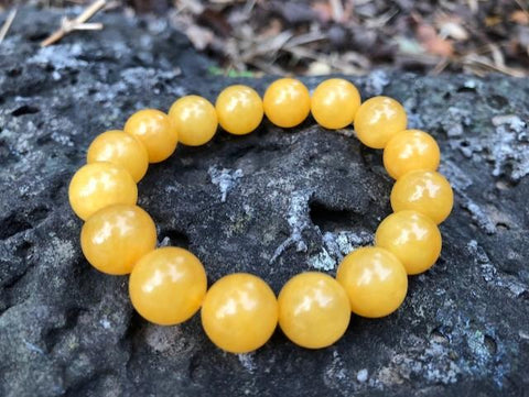 Yellow Amber Bracelet sizes from 12 mm to 16 mm