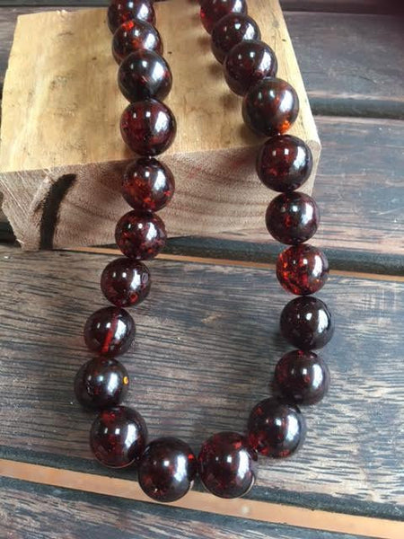 Cherry Amber Necklace  pre -order 14 mm