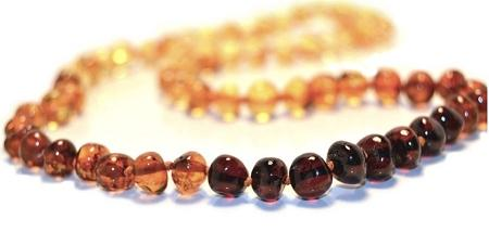 Adult Rainbow  Amber Necklace