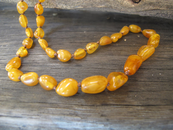 Dark Butterscotch Adult Necklace