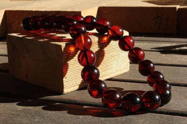 Cherry Amber Necklace 16 mm pre -order