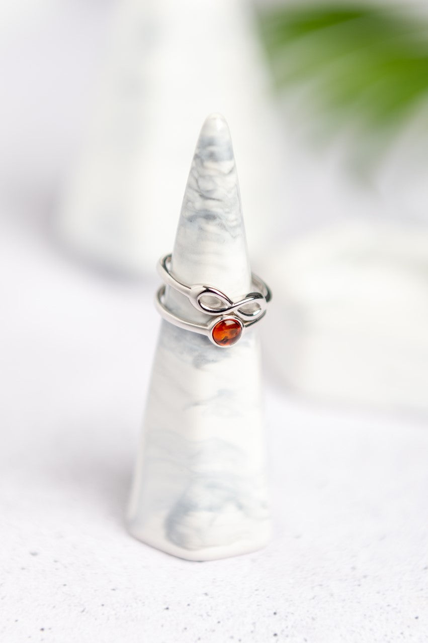 Double Sided Ring Infinity Knot Ring Amber House