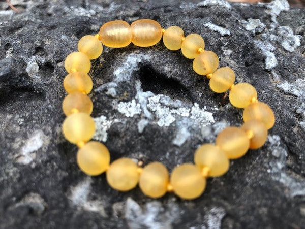 Honey Raw  Baroque  Baby Amber bracelet