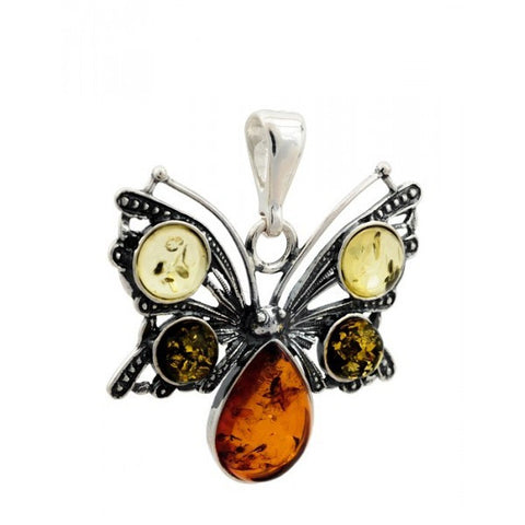 BALTIC AMBER PENDANT- butterfly