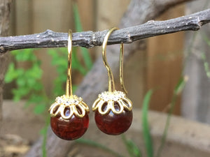 Cherry Baltic Amber Earrings