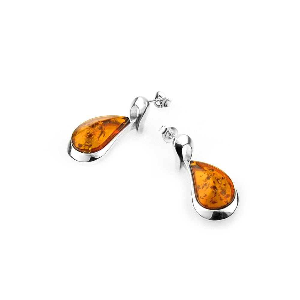 Sunrise Amber Earrings
