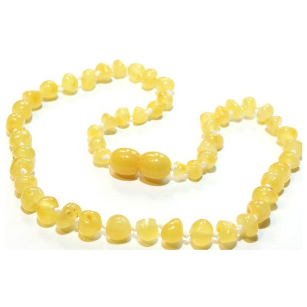 BUTTERSCOTCH BAROQUE BALTIC AMBER BABY NECKLACE