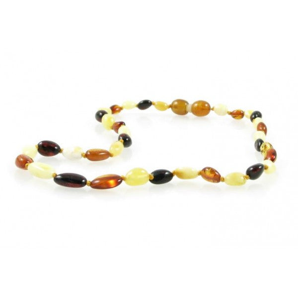 MULTI OVAL BALTIC AMBER BABY NECKLACE