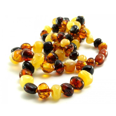 MULTI COLOUR BALTIC AMBER NECKLACES