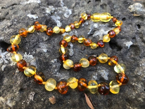 LEMON AND COGNAC BAROQUE NECKLACE