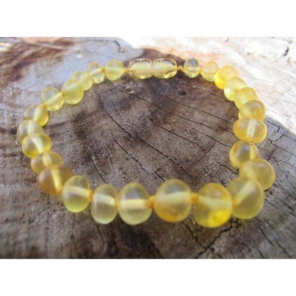LEMON SEMI POLISHED AMBER BRACELET