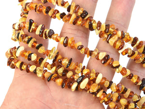 Long Amber Necklace 120 cm