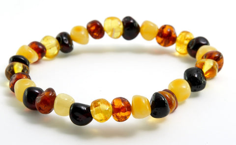 Adult Multi Baltic Amber Bracelet