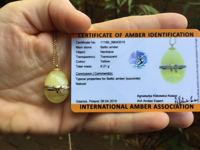 100% natural amber necklace comes with certificate from IAA