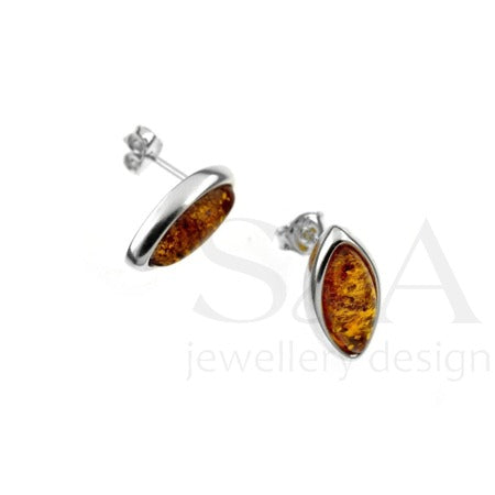 Cognac Baltic Amber earrings