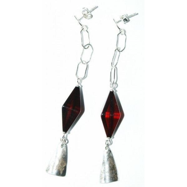 RED BALTIC AMBER EARRINGS