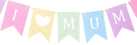 I Love Mum bunting - The Baby's Room personalised Mother's Day gifts