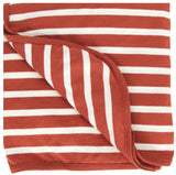 Merino/Organic Cotton blanket - lava stripe
