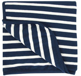 Merino/Organic Cotton blanket - midnight stripe