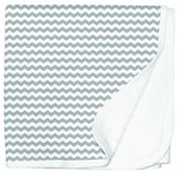 Jersey Cotton Stroller blanket - grey chevron