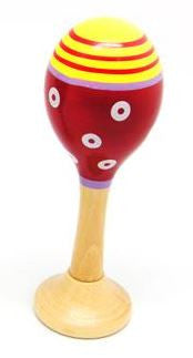 Wooden Mini Maraca - Red
