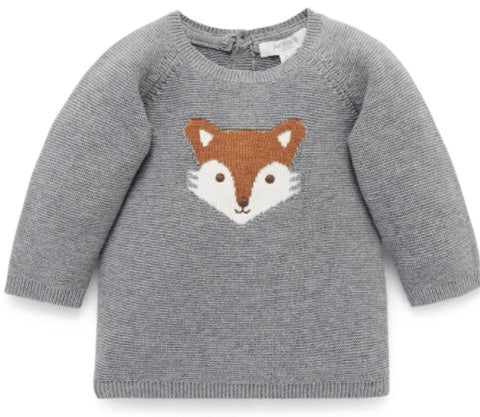 Purebaby Little Fox Jumper
