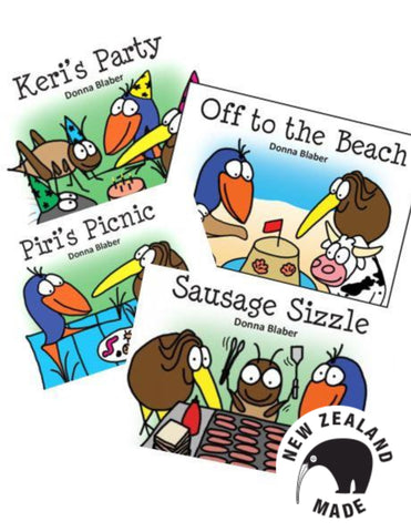Kiwi Critters Wee Books - set of four