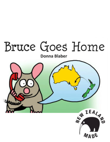 Kiwi critter book - Bruce Goes home