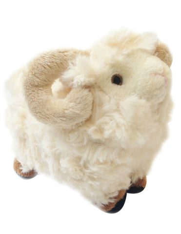 Merino sheep soft toy with horns and baa's