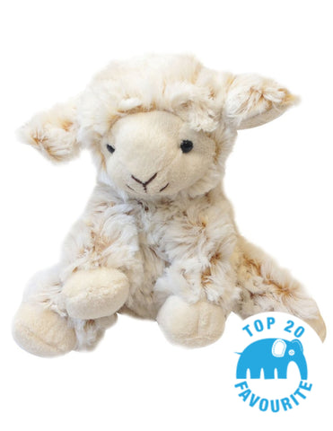 Cuddly sitting lamb soft toy