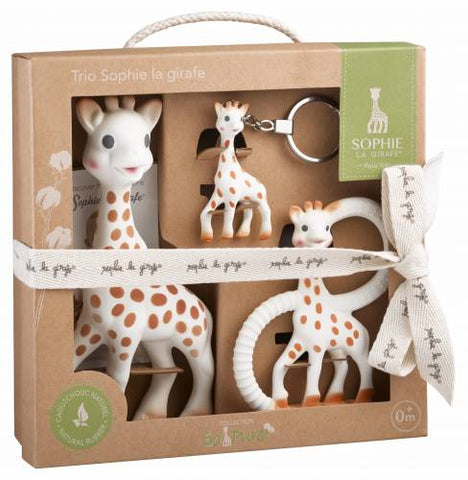 Sophie the Giraffe - Original Sophie, teether and keyring - comes in a Sophie gift box