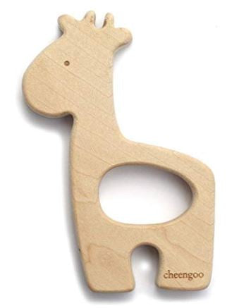 Natural Wooden Teething Giraffe