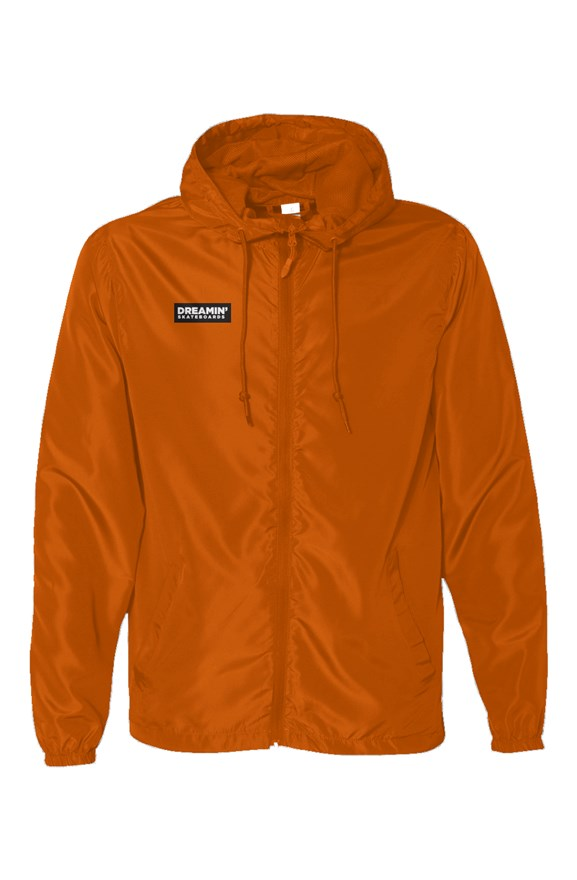 Orange Dream Water Resistant Lightweight Windbreaker